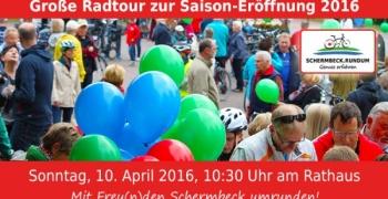 SCHERMBECK.RUNDUM: Große Radtour zur Saison-Eröffnung 2016
