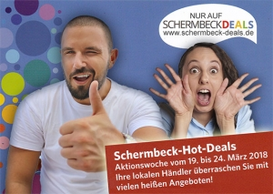 SCHERMBECK DEALS startet mit 70 Anbietern in Hot-Deals-Aktionswoche